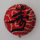 0, KATHRINE BAUMANN - CHINESE SUBJECT - LONG LIFE COMPACT (BACK - RED RHINESTONES)