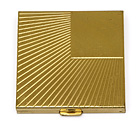 11, SQUARE GOLD WITH LINES COMPACT