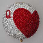 0, KATHRINE BAUMANN - CARDS * QUEEN OF HEARTS LARGE (BACK - CLEAR RHINESTONES)